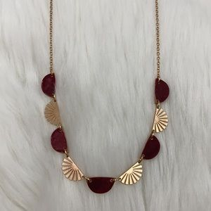 4/$20 Universal Thread Gold Red Bead Necklace